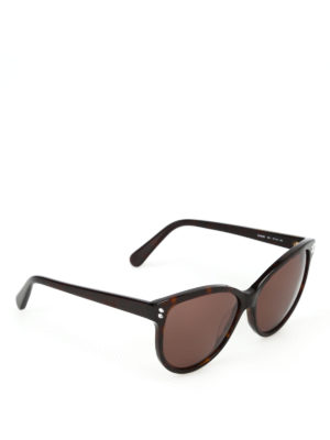 STELLA McCARTNEY: occhiali da sole - Occhiali da sole havana con strass