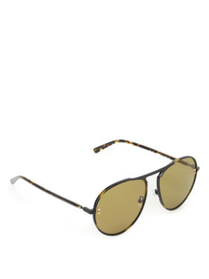 Stella Mccartney: sunglasses - Dark green lenses havana sunglasses