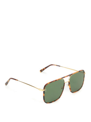 Stella Mccartney: sunglasses - Gold-tone and tortoise sunglasses