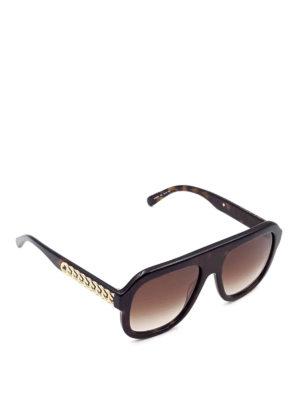 Stella Mccartney: sunglasses - Golden chains sunglasses