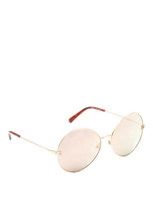 Stella Mccartney: sunglasses - Golden round sunglasses