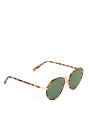 Stella Mccartney: sunglasses - Green lenses tortoise sunglasses
