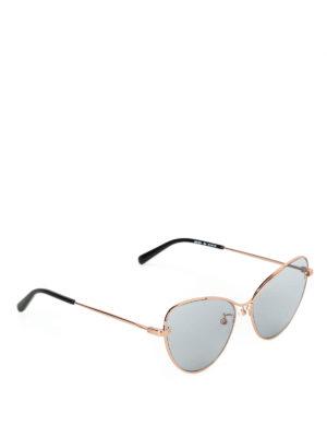 STELLA McCARTNEY: occhiali da sole - Occhiali a occhi di gatto con lenti grigie