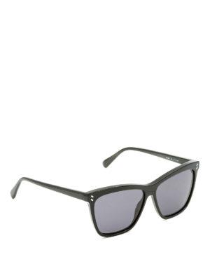 Stella Mccartney: sunglasses - Grey lenses black sunglasses