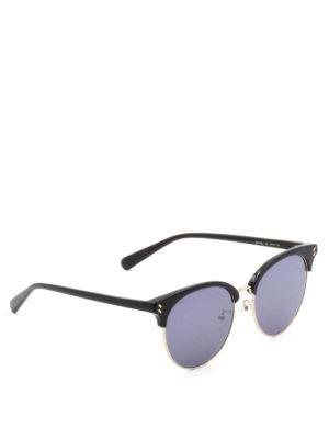 Stella Mccartney: sunglasses - Half-frame acetate round sunglasses