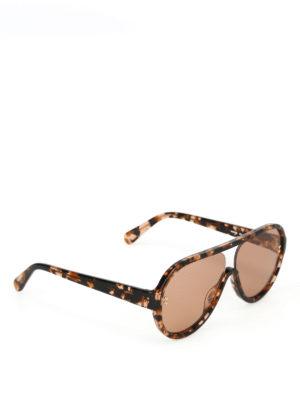 STELLA McCARTNEY: occhiali da sole - Occhiali da sole in bio-acetato havana