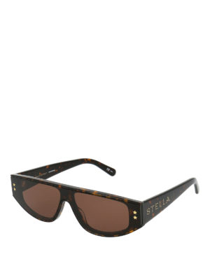 STELLA McCARTNEY: sunglasses - Havana bio-material sunglasses
