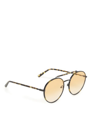 Stella Mccartney: sunglasses - Havana round sunglasses