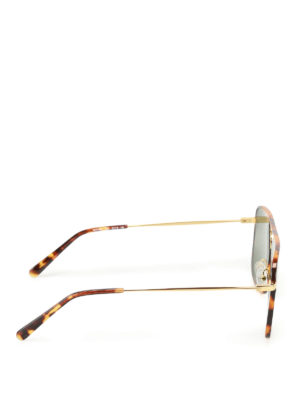 Stella Mccartney: sunglasses online - Gold-tone and tortoise sunglasses