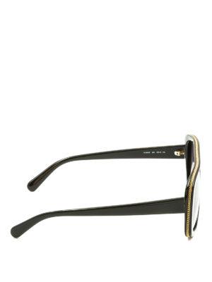 Stella Mccartney: sunglasses online - Golden chain trimmed sunglasses