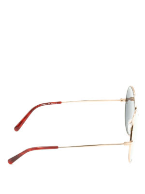 Stella Mccartney: sunglasses online - Golden round sunglasses