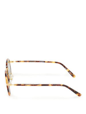 Stella Mccartney: sunglasses online - Green lenses tortoise sunglasses