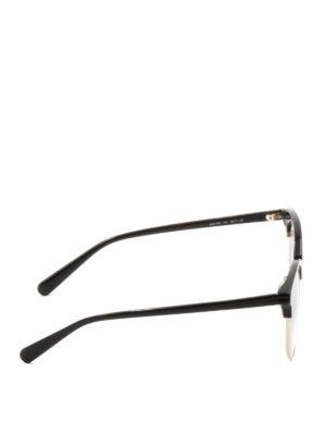Stella Mccartney: sunglasses online - Half-frame acetate round sunglasses