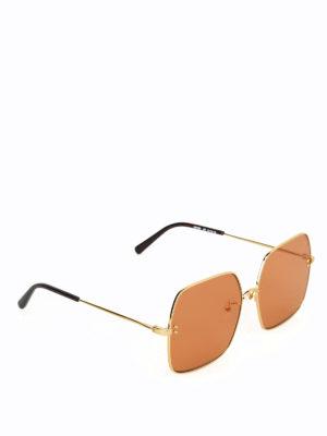 STELLA McCARTNEY: occhiali da sole - Occhiali da sole over con lenti arancioni