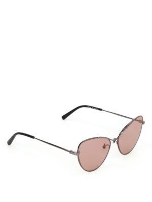 STELLA McCARTNEY: occhiali da sole - Occhiali a occhi di gatto con lenti rosa
