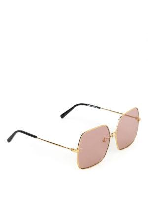STELLA McCARTNEY: occhiali da sole - Occhiali da sole over con lenti rosa
