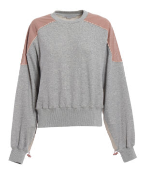 Stella Mccartney: Sweatshirts & Sweaters - Drawstring detail cotton sweatshirt