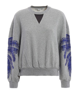 Stella Mccartney: Sweatshirts & Sweaters - Embroidered cotton sweatshirt