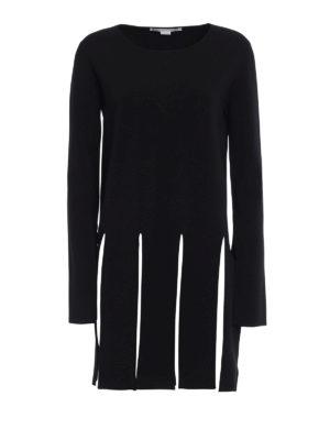 Stella Mccartney: Sweatshirts & Sweaters - Maxi fringes viscose sweater