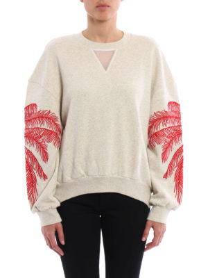 Stella Mccartney: Sweatshirts & Sweaters online - Embroidered cotton sweatshirt