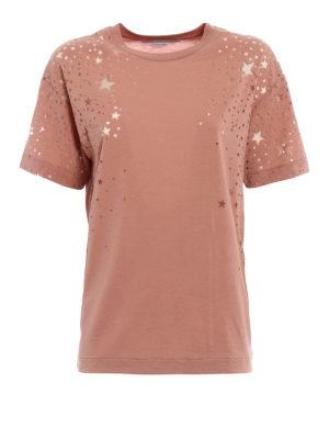Stella Mccartney: t-shirts - Jersey Tee with devoré stars