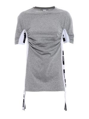 Stella Mccartney: t-shirts - Knitted side bands T-shirt