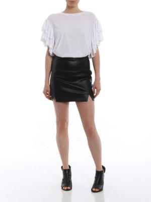 Stella Mccartney: t-shirts online - Frilled sleeve T-shirt
