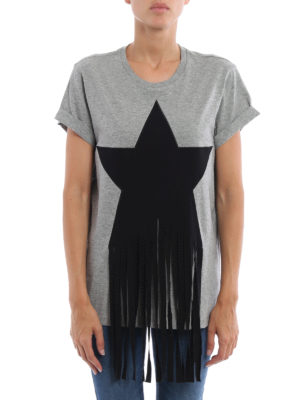 Stella Mccartney: t-shirts online - Fringed star patch T-shirt
