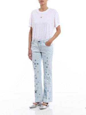 Stella Mccartney: t-shirts online - T-shirt with micro star embroidery