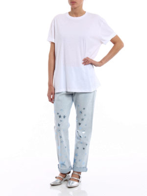 Stella Mccartney: t-shirts online - White Tee with back logo print