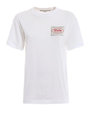 STELLA McCARTNEY: t-shirt - T-shirt con patch Stella All is Love