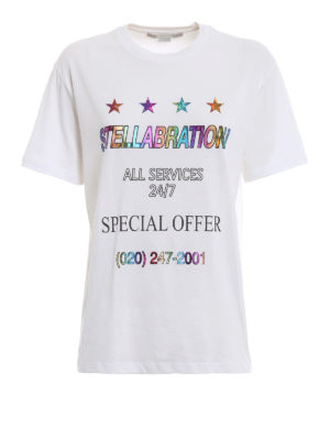STELLA McCARTNEY: t-shirt - T-shirt Stellabration! bianca