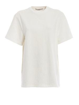 STELLA McCARTNEY: t-shirt - T-shirt bianca in cotone stretch