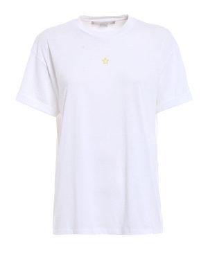 Stella Mccartney: t-shirts - Yellow Ministar embroidered T-shirt