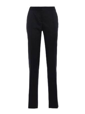 Stella Mccartney: Tailored & Formal trousers - Black wool tailored trousers