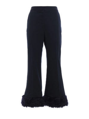 Stella Mccartney: Tailored & Formal trousers - Malina-Fur Free Fur trousers
