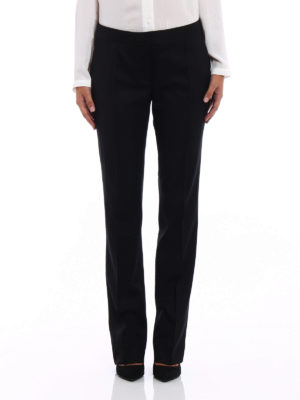 Stella Mccartney: Tailored & Formal trousers online - Black wool tailored trousers