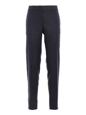 Stella Mccartney: Tailored & Formal trousers - Zipped bottom wool trousers