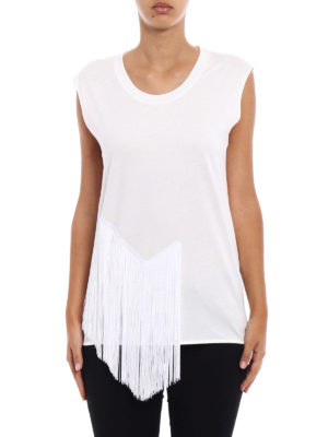 Stella Mccartney: Tops & Tank tops online - Cotton tank top with long fringes