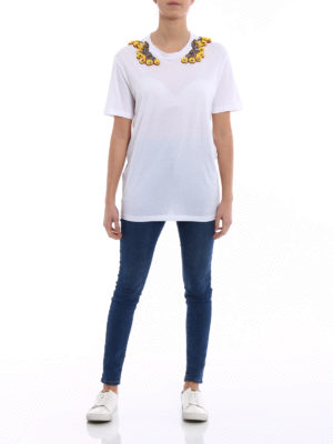 Stella Mccartney: Tops & Tank tops online - Yellow floral embellishment T-shirt