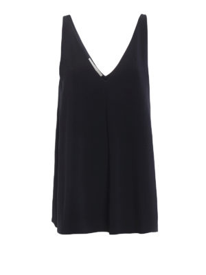 Stella Mccartney: Tops & Tank tops - Stretch cady Sutton tank top