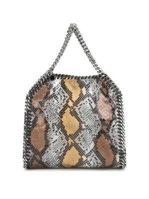 Stella Mccartney: totes bags - Falabella fold over python bag