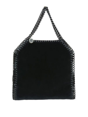 STELLA McCARTNEY: shopper - Tote Falabella Mini in velluto nero