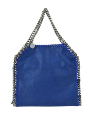 STELLA McCARTNEY: shopper - Falabella Mini in shaggy deer blu elettrico