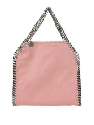 STELLA McCARTNEY: shopper - Falabella Mini rosa in shaggy deer