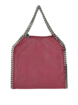 STELLA McCARTNEY: shopper - Falabella Mini rossa in shaggy deer