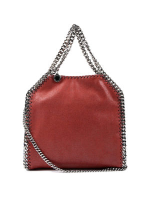 Stella Mccartney: totes bags - Falabella mini tote shaggy deer