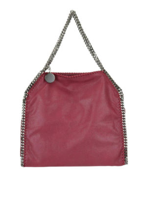STELLA McCARTNEY: shopper - Tote Falabella piccola rossa in shaggy deer