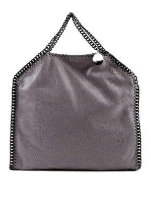 STELLA McCARTNEY: shopper - Borsa Falabella in ecopelle metallizzata
