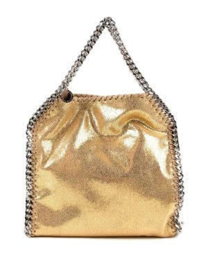 STELLA McCARTNEY: shopper - Mini tote Falabella dorata